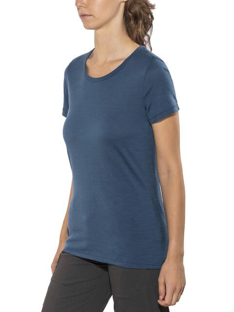 Icebreaker Tech Lite SS Low Crewe Shirt Women prussian blue